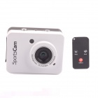 "PANNOVO 2.4"" Touch Screen 5.0M CMOS HD Waterproof Sport Mini Camcorder w/ HDMI + Remote - White"