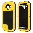 Redpepper Aluminum Alloy Glass Waterproof Case for Samsung Galaxy S3 - Yellow + Black