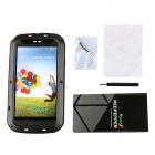 Redpepper Aluminum Alloy Glass Waterproof Case for Samsung Galaxy S3 i9300 -  Black