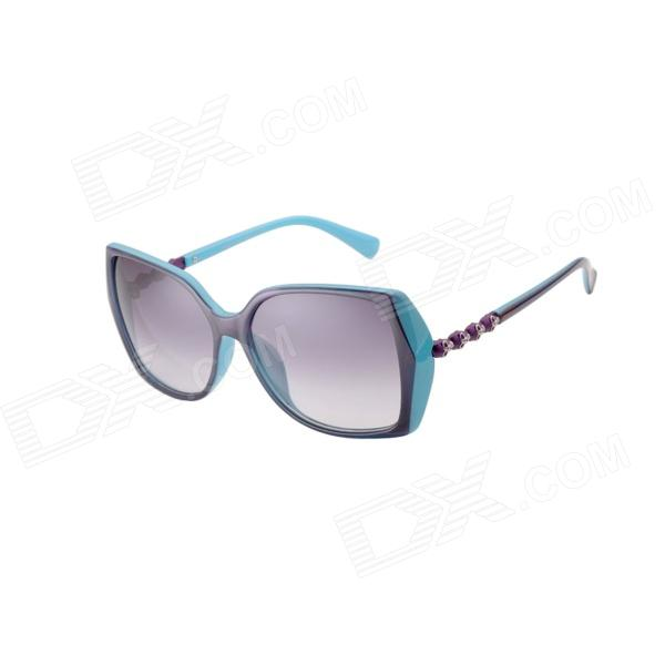 Reedoon 7698 Fashion UV400 Protection Ladies' Sunglasses - Blue + Grey reedoon 2202 foldable blue resin lens uv400 protective sunglasses black blue