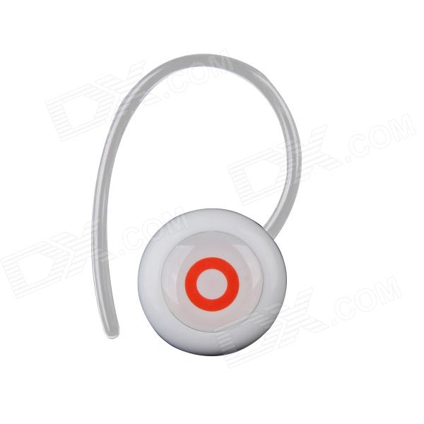 Fineblue Earhook Bluetooth V3.0 Stereo Headset w/ Microphone - White