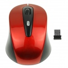Hat-Prince 1600DPI 2.4GHz Wireless Optical Mouse with Mini Receiver - Red