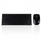 HK3910 2.4GHz 78-Key Alloy Wireless Keyboard + Optical Mouse Combo Kit - Black