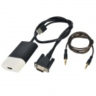 VGA to HDMI HD Video Converter w/ USB Cable - Black + White