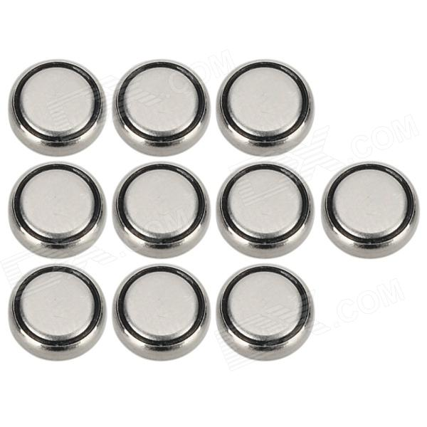 SEIZAIKEN 416 1.55V Silver Oxide SR416SW Button Cell Batteries - Silvery Grey + Black (10 PCS)