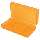 PP 18650 / CR123A / 16340/15270 / CR2 bateria de armazenamento Cases - Translucent Orange (5 PCS)