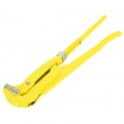 REWIN WG-45100 High Carbon Steel Bent Nose Pipe Wrench - Yellow + Silver