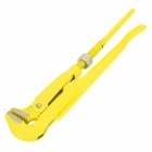 "REWIN WG-45034 High Carbon Steel 3/4"" Pipe Wrench - Yellow + Silver"