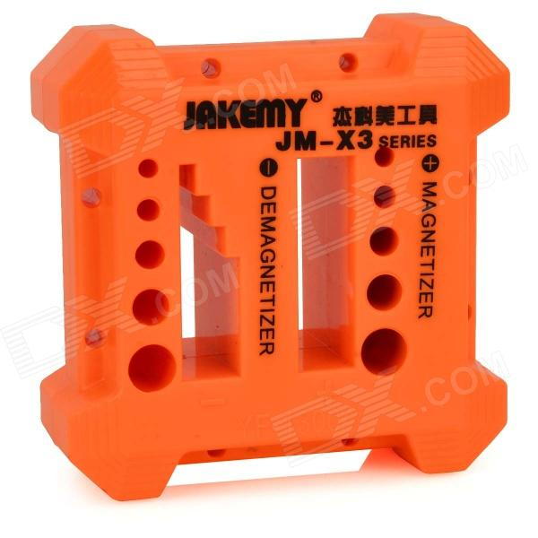 Jakemy JM-X3 PP Screwdriver / Metal Components Magnetizer / Demagnetizer - Orange + Black