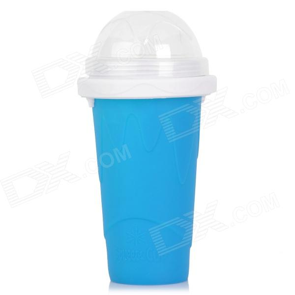 Creative Magic Smoothie Milkshake Juice Drinking Cup w/ Straw / Cover - Deep Blue lucky shot drinking roulette game 6 cup set