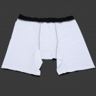 Men's Polyester + Spandex Running Climbing Short Pants - White + Black (Size XXL)