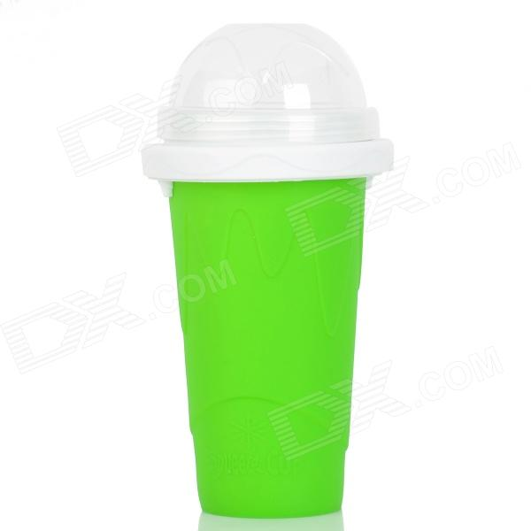 Creative Magic Smoothie Milkshake Juice Drinking Cup w/ Straw / Cover - Green lucky shot drinking roulette game 6 cup set
