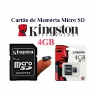 Kingston 4GB microSDHC Class 4 Flash Memory Cards with SD Adapter SDC4/4GB