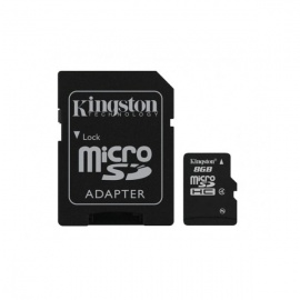 Kingston SDC4/8GB 8GB microSDHC Class 4 Memory Cards with Adapter