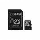 Kingston 8GB microSDHC Class 4 Flash Memory Cards with SD Adapter SDC4/8GB