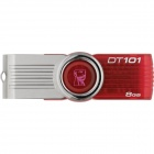 Kingston Digital 8GB DataTraveler 101 G2 USB 2.0 Drives Red DT101G2/8GB