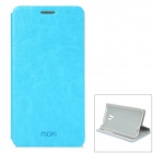 MOFI PR1005 Protective PU + ABS Case w/ Stand for MEIZU MX3 - Aquamarine