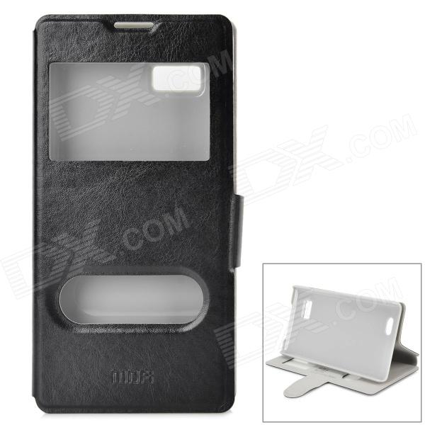 MOFI PH1028 Protective PU + ABS Case w/ Stand for Lenovo a788t - Black