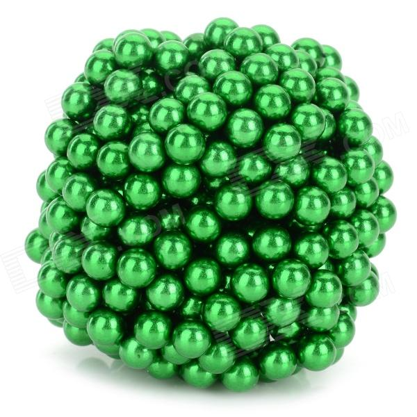 DIY 5mm NdFeB Magnetic Balls Educational Toy - Green (432 PCS) magnet bars kids magnetic designer building blocks 3d diy creative engineering vehicles bricks models learning educational toy