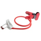 Universal Double Clips Desktop Flexible Neck Clip Holder Stand for Cellphone - White + Red + Black