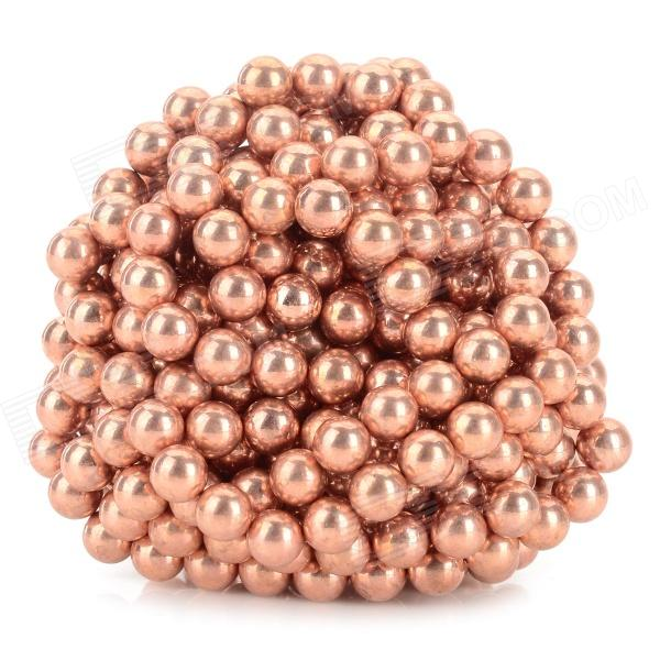 DIY 5mm NdFeB Magnetic Balls Educational Toy - Antique Brass (432 PCS) 100pcs 3 x 2 mm strong disc magnetic sheet puzzle ndfeb novelty toy for diy