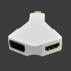Mini DisPort 1.2 to HDMI + VGA HD Converter - White
