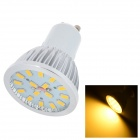 GU10 4W 450lm 3000K 16-SMD 5730 LED Warm White Lamp - Silver + White + Yellow (AC 85~265V)