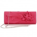 Women's Fashionable Rose Flower Style Messenger w/ Chain - Red