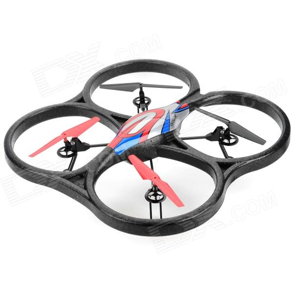 WLtoys V333 2.4GHz 4-CH Radio Control UFO Bubble Quadcopter R/C Helicopter - Red + Blue