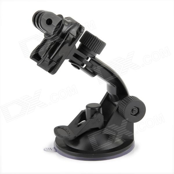 JUSTONE Car Suction Cup Holder w/360 Rotatable Degreee Mount Base for SJ4000 / SupTig / GoPro Hero 4/2/3/3+ three dimensional adjustable helmet side mount for gopro hero 3 3 2 1 black