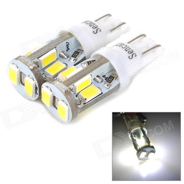 SENCART T10 4W 160lm 11000K 10-SMD 5730 LED Cool White Car Lamps - White (2 PCS / 12~16V)