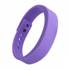Wireless Bluetooth V4.0 Smart TPU Wrist Band w/ Call Remind / Idle Vibration / Alarm Clock - Purple