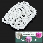 DIY 5mm NdFeB Magnetic Balls Educational Toy - White (216 PCS)