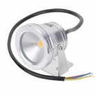 JRLED JR-LED-10W Waterproof 10W 1-LED 600lm 3300K quente Spotlight gramado branco - prata (AC 85 ~ 265V)