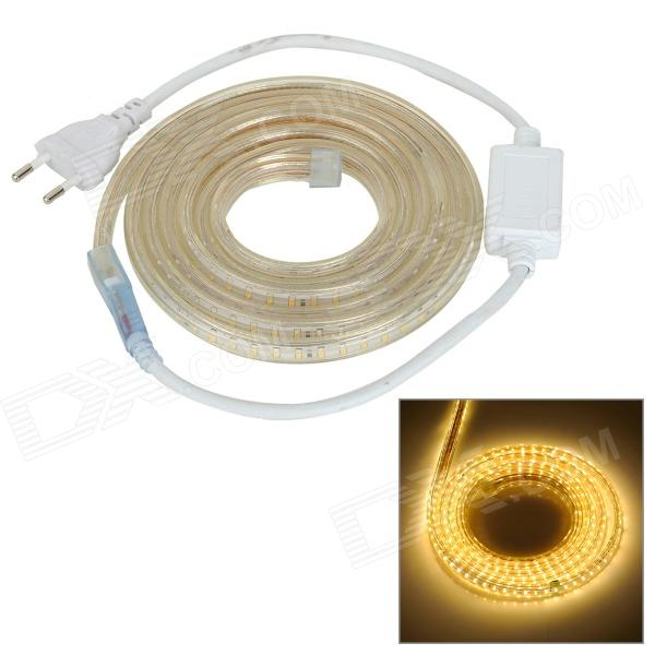 JRLED Waterproof 30W 2300lm 3300K 240-SMD 3014 LED Warm White Strip - White + Brown (AC 220V / 2m)