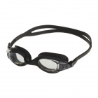 WMB53474 Anti-fog Mirror Coated UV Protection PC Lens Swimming Goggles - Black