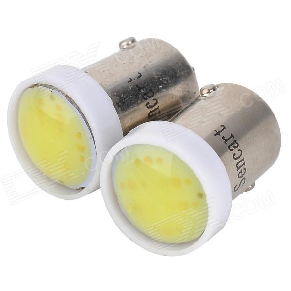 SENCART BA9S 1W 10lm 11000K 1-COB LED Cool White Light Car Lamps - White (2 PCS / 12~16V)