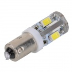 SENCART BA9S 4W 120lm 6500K 10-SMD 5730 LED White Light Car Lamp - Branco (12 ~ 16V)