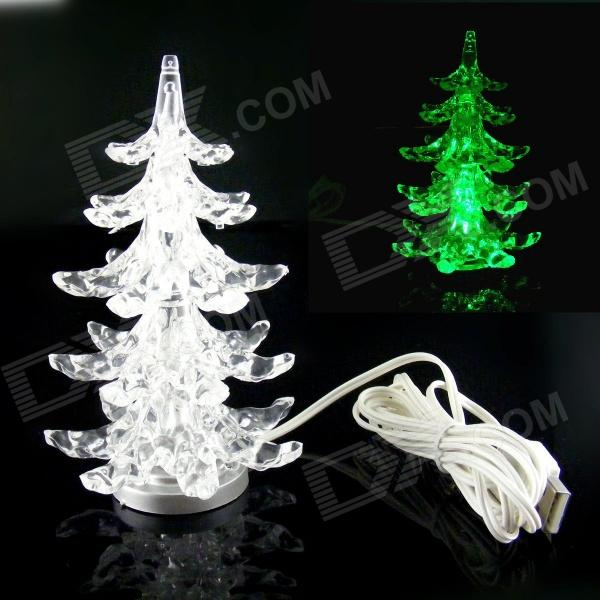 PZCD MY-08 USB Powered Multi-Color Slow Twinkle Romantic LED Desktop Crystal Christmas Tree Erie Купить товары