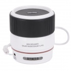 SLANG WS-A88 Lens Style Rechargeable Multimedia Player Speaker w/ USB 2.0 / TF / FM - White + Black