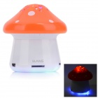 SLANG F28 Mini Mushroom Rechargeable Media Player Speaker w/ RGB LED / USB 2.0 / TF / FM - Orange