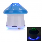 SLANG F28 Mini Mushroom Rechargeable Media Player Speaker w/ RGB LED / USB 2.0 / TF / FM - Blue