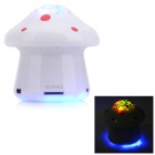 SLANG F28 Mini Mushroom Rechargeable Media Player Speaker w/ RGB LED / USB 2.0 / TF / FM - White