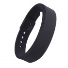 Wireless Bluetooth V4.0 Smart TPU Wrist Band w/ Call Remind / Idle Vibration / Alarm Clock - Black