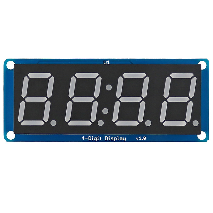 D4056B 0.56 LED 4-Digit Display Module w/ Clock Point for Arduino - Blue + Black + White