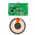 LINK DREAM Qi Wireless PCBA Circuit Board w/ Wireless Charging Coil for DIY - Green (Short)