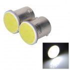 SENCART 1156 / BA15s 3W 50lm 11000K 1-COB LED Cool White Light Car Lamper - Hvit (2 stk / 12 ~ 16V)