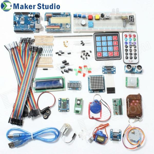 купить Maker Studio AK0000510M Arduino Uno R3 Learning Deluxe Kit - Multicolored недорого