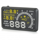 "W02 5.5"" HUD Head-up Display System w/ Speedometer / OBD II Cable - Black + Yellow"