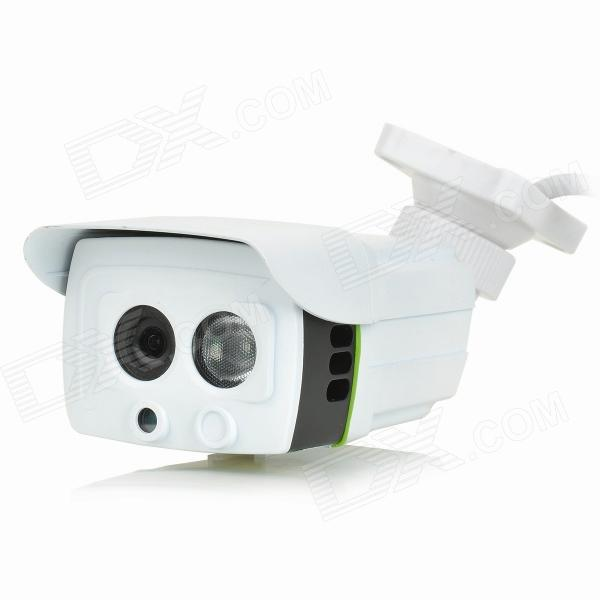 "RATINGSECU R-H232 Waterproof 1/4"" CMOS 720P Digital Camera w/ 1-IR-LED / IR-CUT / Wi-Fi / TF - White"